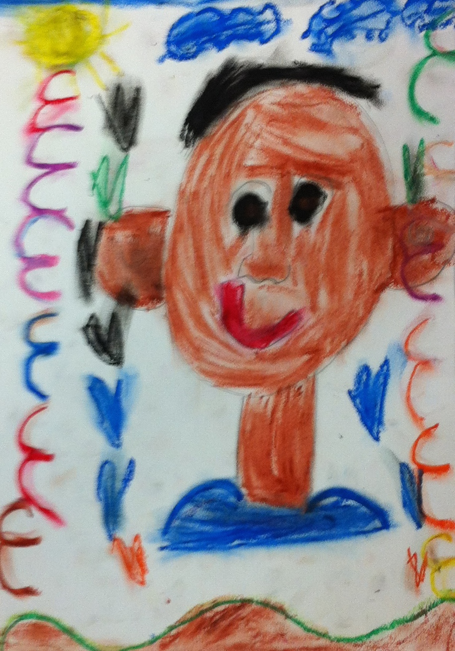 Student self portraits, grade K to 7th.