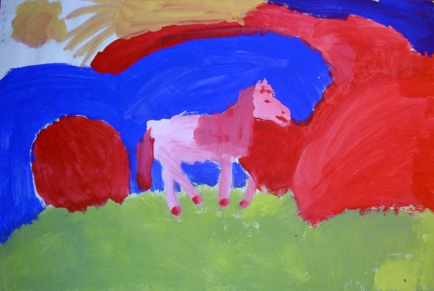 Horse painted in the 4th grade.